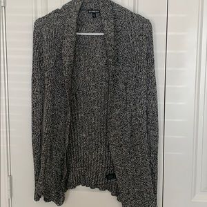 EXPRESS BLACK & WHITE MARBLED SWEATER